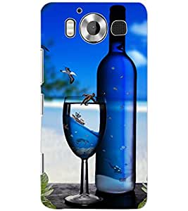 PrintDhaba GLASS AND WINE D-6424 Back Case Cover for MICROSOFT LUMIA 950 (Multi-Coloured)