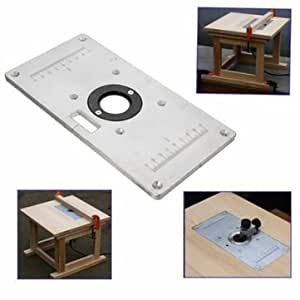 Atoz prime 235mm x 120mm x 8mm Aluminum Router Table Insert Plate For Woodworking Benches