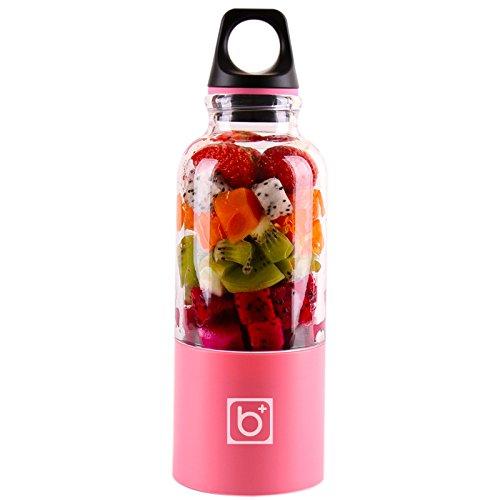 XZANTE 500 Ml Tragbarer Entsafter Becher USB Wiederaufladbare Elektrische Automatische Bingo Gemüse Fruchtsaft Werkzeuge Hersteller Becher Blender Mixer Flasche Rosa
