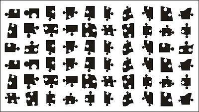 Autocollants 60 Jigsaw Puzzle Nail Tattoo Art de transfert
