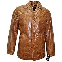 New Classic Hip lunghezza del cappotto del rivestimento di cuoio