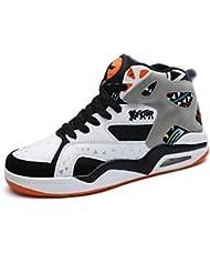 8f75f6d399d29 Los Hombres de Baloncesto Zapatos de Alta Top Zapatillas al Aire Libre  Transpirable Botas de Tobillo