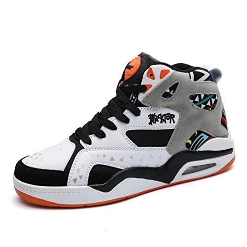 Männer Basketball Schuhe Hohe Spitzenturnschuhe Outdoor Atmungsaktive Stiefeletten Luftpolster Männliche Sportschuhe (Schuhe Lv)