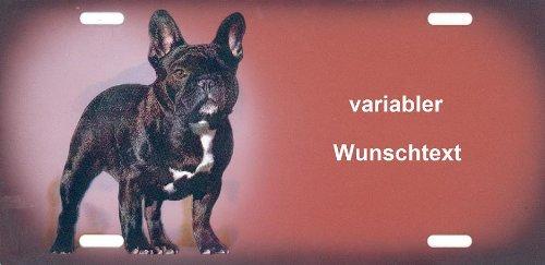 Hundeschild Französische Bulldogge mit Wunschtext
