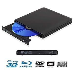 Externer Speicher Ultra Slim 3d Blu-ray Player Tragbare Externe Usb 3.0 Reader/ Schriftsteller Bd-rw Für Apple Macbo schriftsteller/blu-ray Externe