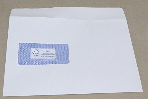 Preisvergleich Produktbild Mailmedia Briefumschläge Revelope/47801 C5 weiß mit Fenster 80 g/qm Inhalt 500