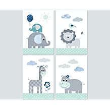 kinderzimmer babyzimmer deko mdchen junge poster set 4x din a4 bilder kinder baby