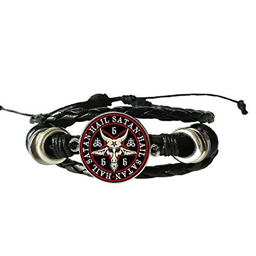Armbänder Für Herren Ba Fengte Glas Leder Armband Handgemachte Private Foto Armband Diy Schmuck Custom Geschenk Schafe Kopf Dämon