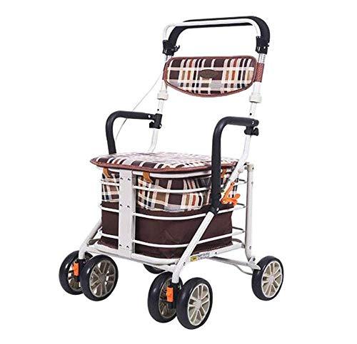 Trasporto Anziani Disabili Sedia a Rotelle Multifunzione Walker Borsa Portaoggetti Di Grandi Dimensioni Uomo Anziano Viaggiare, Shopping, Assistenza Medica Carrello Di Assistenza Braccioli Regolab