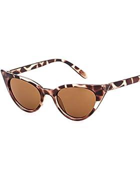 humefor Retro gafas de sol para mujer, de grosor marco de plástico Ojo de gato Vintage estilo gafas de moda