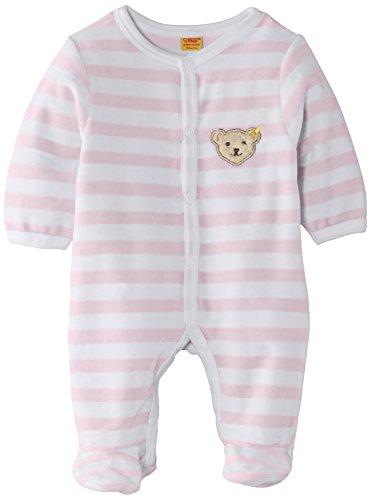Steiff Unisex - Baby Strampler, gestreift Classics Nicky 0002848, Gr. 68, Rosa (barely pink 2560)