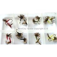 40/mixto Pesca de la trucha de moscas WETS etc. BUZZERS lotes x216 se seca Nymphs