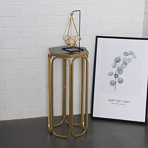 JKXWX Eisen-Blumen-Stand-Dekorations-Ausstellungsstand, Boden-Portal-Blumen-Stand, verwendbar für Schlafzimmer-Wohnzimmer-Büro,Small - Reflektierende Auf Eisen