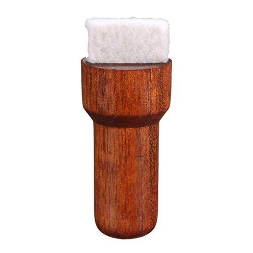 Lidahaotin Holz Brown-Gitarren Saiten-Reiniger Scrubber Violin-Bürsten-Feder Musikinstrumente Körperreinigungswerkzeug String Reinigungsbürste Gitarrenreiniger Ukulele braun