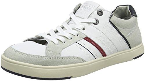 Levis Beyers Low, Baskets Homme Blanc (Noir Regular White)