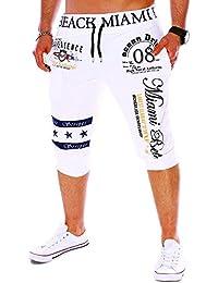 VRTUR Pantalones Cortos Hombres El Verano Moda Pantalones nuevos para Hombres Cordón Elástico Cintura Impresión Pantalones