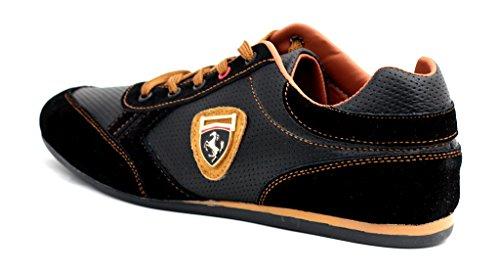 Baskets Decontractés Pour Hommes Chaussure Cuir Lacet Chaussures Élégantes Noir/Marron