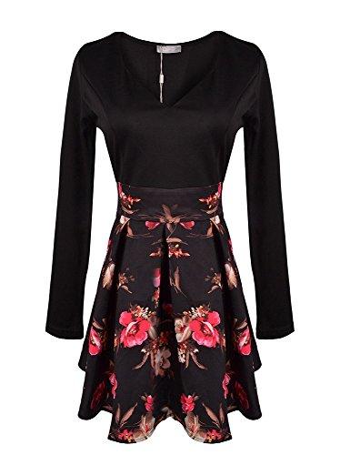 Elite99® - Robe - Patineuse - Femme Noir - Noir