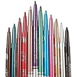 12 Farben Eyeliner Pencil Wasserdicht Liner Stift Bleistift Schönheit Makeup Set