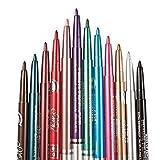 G2Plus, kit da trucco con eyeliner in 12colori, impermeabile, matita per le labbra, ombretto, matita per sopracciglia, set cosmetico di matite colorate