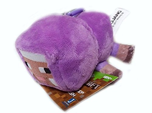 Sheep Baby Plush - Purple with clip - Minecraft - 6cm 2.5""