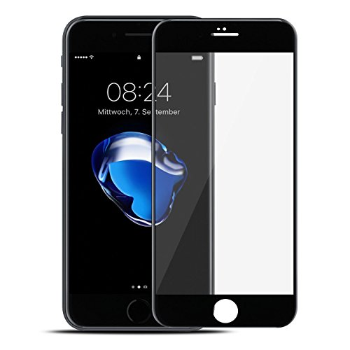 iPhone 7Full Cover Armoured Glass, screen Protector, Gtsafe 3D Glass Protective Film Tempered Glass HD Screen Protecter Black White Glass 9H Tempered Glass For iPhone 7 Test
