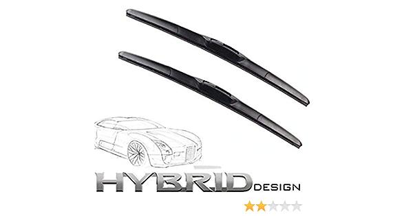 650mm 450mm Hybrid Flex 2x Front Scheibenwischer Premium Qualität Wischerblätter Scheibenwischerblätter Satz Starke Anpresskraft Auto