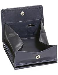 Modèle VIENNE portemonnaie particulier en cuir de vachette, fabrication façon « viennoise », avec compartiment pour la monnaie carré typique LEAS, bleu - ''LEAS Special Edition''