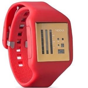 Nooka ZUBZENVFG20 - Reloj unisex con correa de plástico naranja de Nooka
