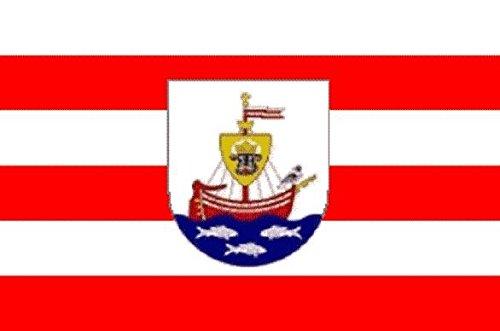U24 Fahne Flagge Wismar mit Wappen 90 x 150 cm