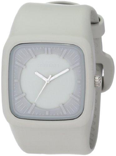 Converse R1151102023 – Reloj con correa de caucho para hombre, color gris