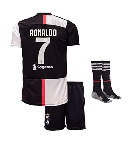 Juventus Ronaldo #7 2018 Heim Trikot Shorts und Socken Kinder und Jugend Größe (176)
