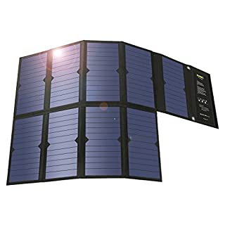 SUAOKI 60W Solar Ladegerät 2-Port Beweglicher Solar Panel Ladegerät (18 V DC und 5V USB Dual Ausgang Ladegerät) für Laptop, Akku, Netz Bank, iPad, iPhone und Andere Digitale Geräte