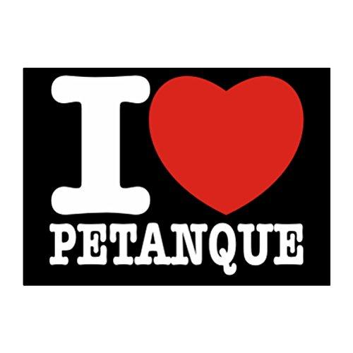 Teeburon I love Petanque Aufkleber Packung x4