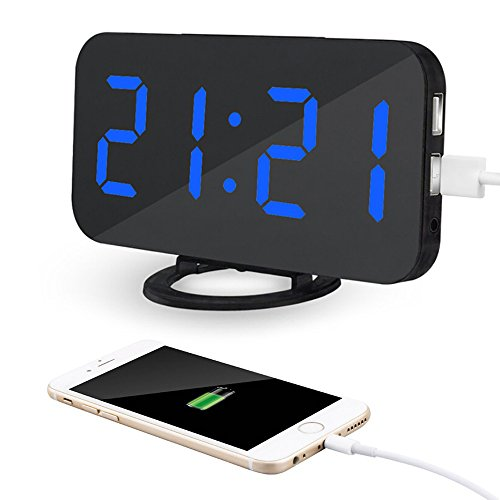 Kidsidol 2 1 creativo reloj alarma digital LED dimmer