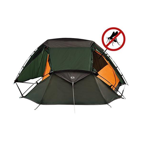 Campeggio e Trekking Colore Verde//Arancione Ultrasport Tenda da Campeggio per 3 Persone Fornita con Borsa per il Trasporto Inclusa Ottimo per Festival