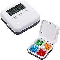 Pillen Kiste, Intelligentes Timing + Digitaler Sprach Alarm, Mit Zeit Mahnung, Mini Portable Carry-On (4 Fächer... preisvergleich bei billige-tabletten.eu