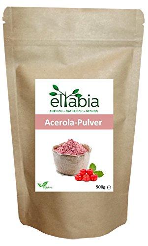 eltabia Acerola Pulver 500g Großes Pack natürliches Vitamin C