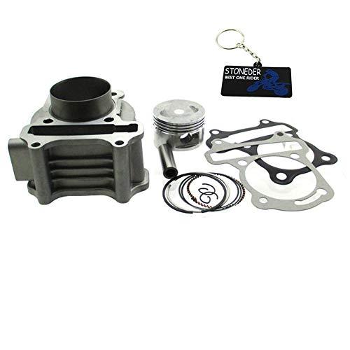 STONEDER 100cc Big Bore 50mm Zylinder Kit für 139QMB GY650cc 80cc Moped Scooter Quad ATV (Gy6 Big Bore Zylinder Kit)