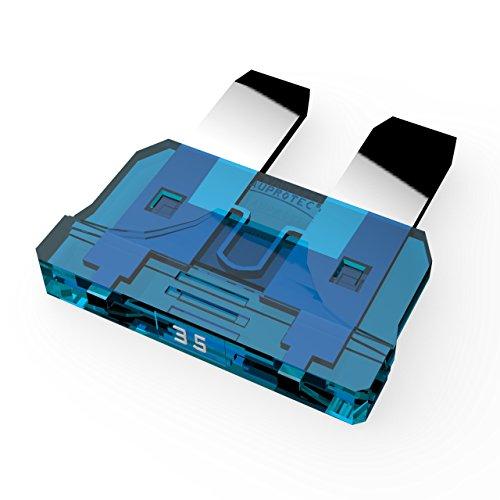 AUPROTEC Fusibile Standard ATO 1A - 40A Fusibili Lamellari selezione: 35A Ampere blu, 5 pezzi