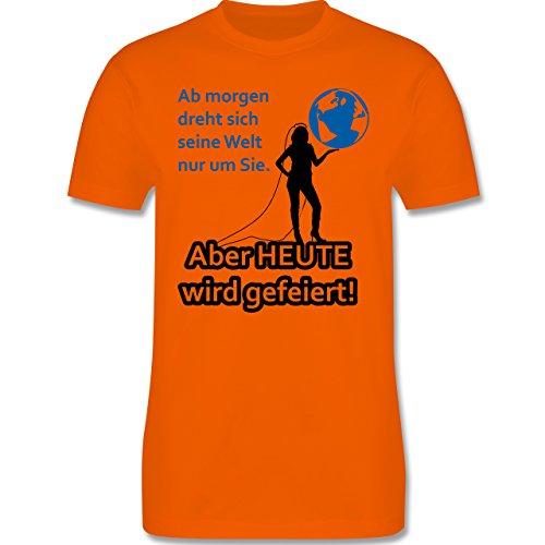 JGA Junggesellenabschied - Aber Heute wird gefeiert - Herren Premium T-Shirt Orange