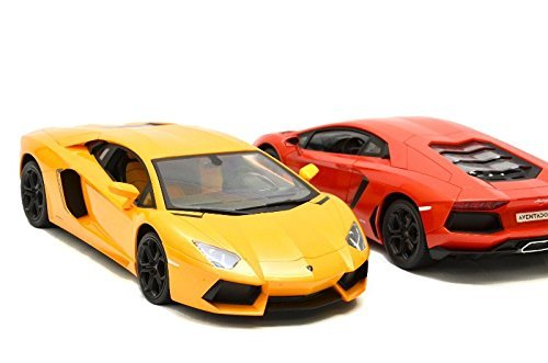 Lamborghini Aventador scala 1/14 AUTO MACCHINA RADIOCOMANDATA R/C ELETTRICA TELECOMANDATA 1:14 di colore GIALLO / ARANCIONE