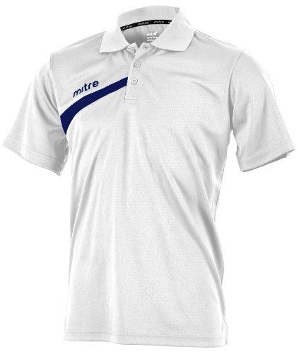MITRE Polarize Erwachsene FuÃ?ball-Poloshirt Weiß - weiß