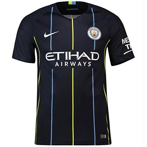 Nike Manchester City FC Stadium Away–Camiseta Niños, Niño, 919246, obsidiana Oscura/Blanco, FR : M (Taille Fabricant : M)