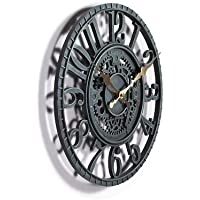 Outdoor Garten Uhr, Blau Schiefergrau, 30,5cm 30cm. Zahnradführung Mechanische Design