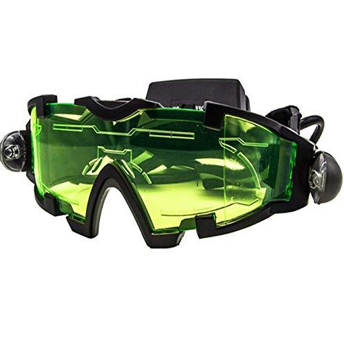 Nachtsichtbrille mit verstellbarem elastischem Band und ausklappbarem LED-Licht für Nachtaktivitäten