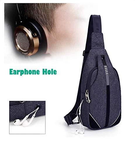 WATERFLY Sling Bag Kleine Rucksack Umhängetasche Geldbörse Crossbody Diebstahl Kamerarucksack mit verstellbarem Schultergurt für Männer...