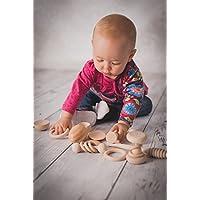 Il cesto dei tesori, Il cestino dei tesori Montessori 14 oggetti in legno per bebé