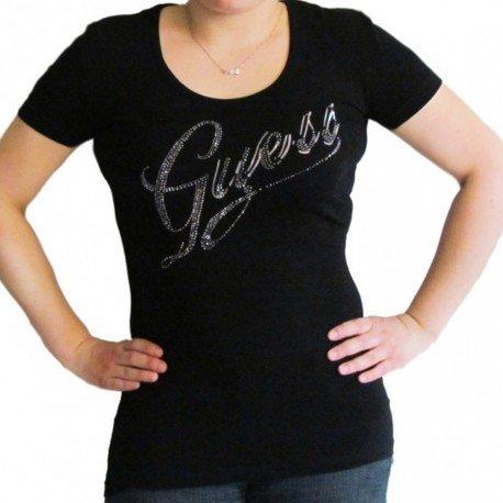 t-shirt-guess-logo-strass-s-noir