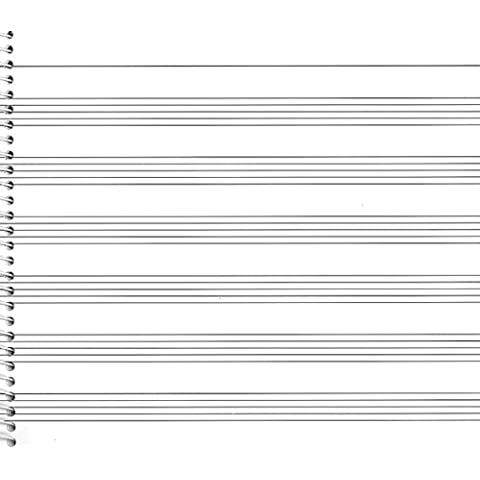 Passantino Music Papers: No. 73, 6 Stave (Wide)